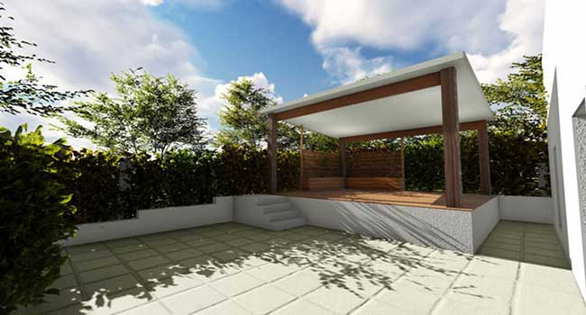 3d Rendering landscaping designs