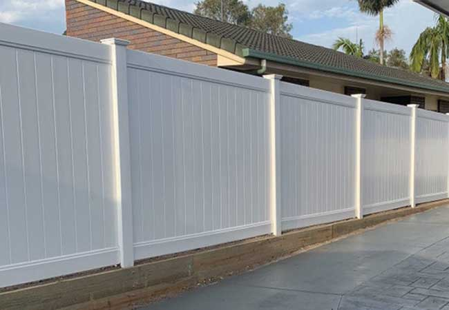 Timber fencing and landscaping