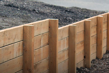 Retaining walls and structural landscaping services.