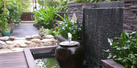 Water features make a great feature to your landscaped garden design.