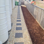 Garden peeble and concrete paving on the Gold Coast.