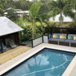 Tropical landscape design poolscapes ideas.