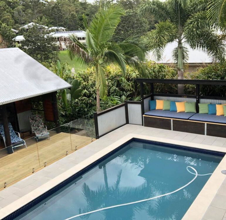 Tropical landscape design poolscapes ideas.